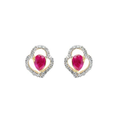 Diamond Earring (Color Stone)